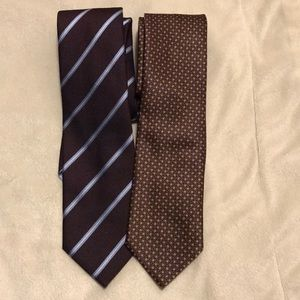 Lot of two Brioni silk ties